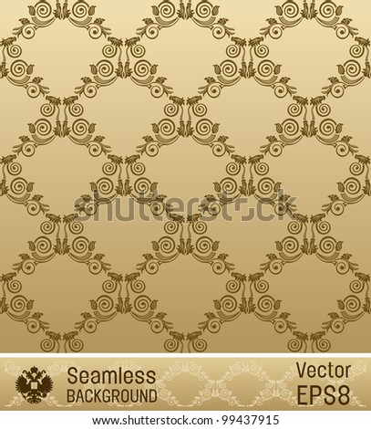 raster seamless wallpaper ornament vintage background. looking for a copy of the vector in my portfolio - stock photo
