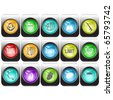 Raster set of internet buttons - stock photo