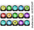 Raster set of internet buttons - stock vector
