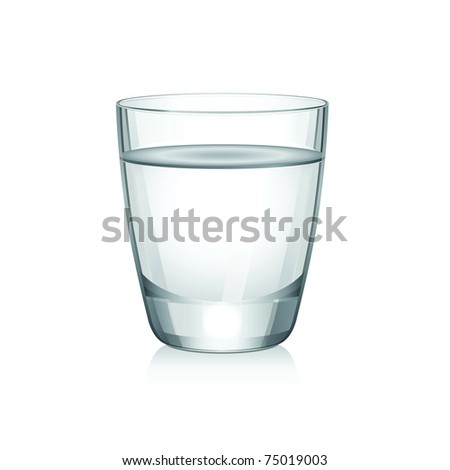Raster short glass with water. - stock photo