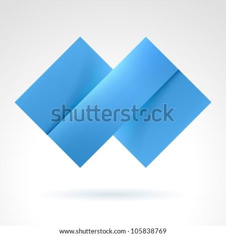 Raster version. Abstract Blue Tile. Illustration on white for design - stock photo