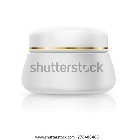 Raster version. Bank white cream isolated on  white background