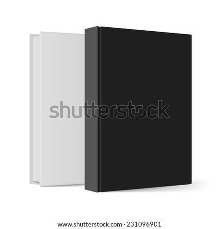 Raster version. Black and white books. Illustration on white background for design  - stock photo