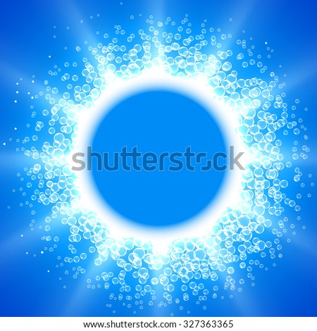 Raster version. Blue Bubble Theme with place for your text - stock photo