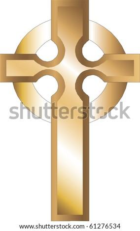 Raster version Church Icons, Illustration of Gold Roman Cross. - stock photo