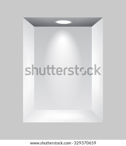Raster version. Gray niche for presentations with light lamps