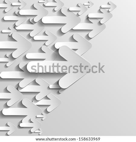 raster version horizontal arrows - stock photo