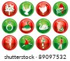 Raster version Illustration Card of the 12 days of Christmas buttons. - stock photo