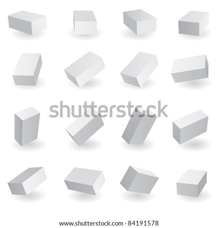 Raster version.  illustration of different position style boxes. - stock photo