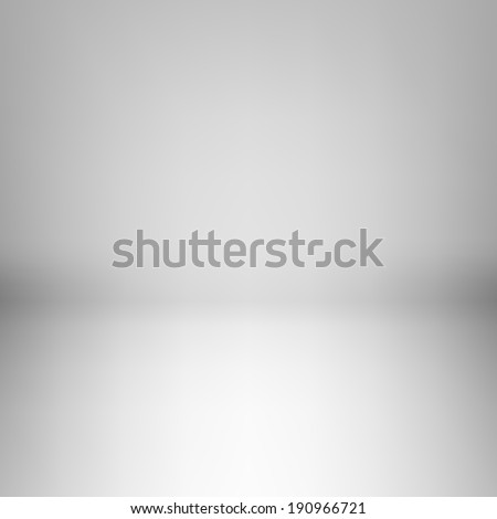Raster version. Illustration of empty light room with dim light - stock photo