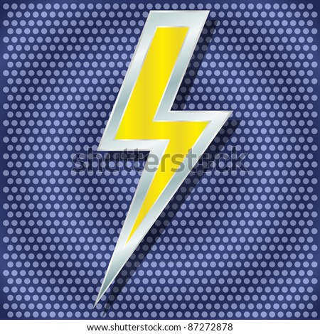 raster version. lightning for your design - stock photo
