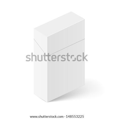 Raster version. ������¡losed White Pack of cigarettes. Illustration on white background for creative design - stock photo