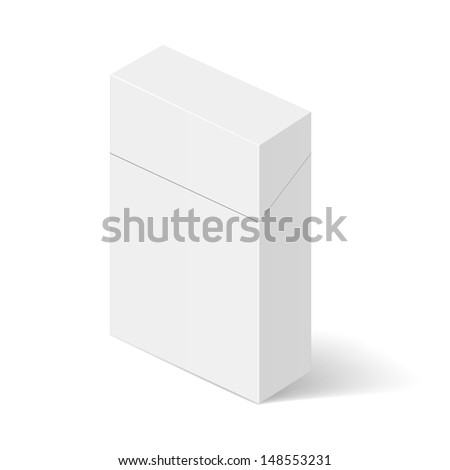 Raster version. ������¡losed White Pack of cigarettes. Illustration on white - stock photo