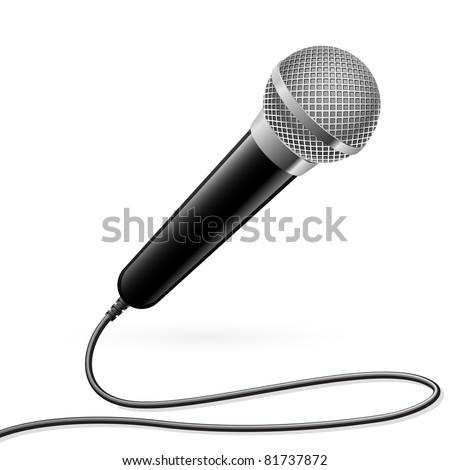 Raster version. Microphone for Karaoke. Illustration on white background