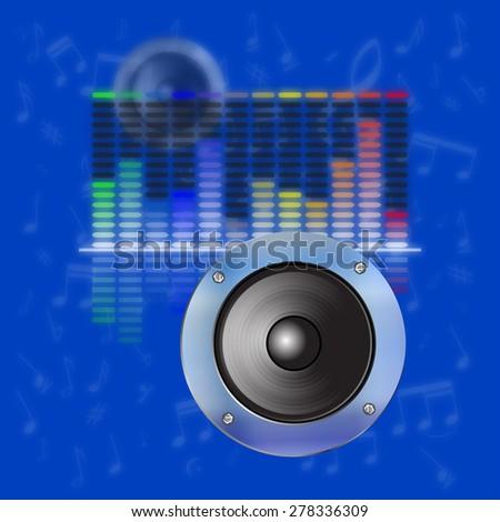 raster version musical design, sound waves, an equalizer - stock photo
