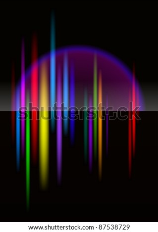 Raster version. North-light abstract bright colorful background for design. Black release.