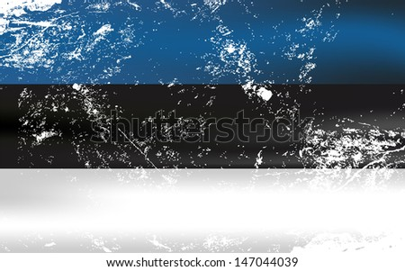 Raster version of a light grunge effect flag of Estonia. Vector file is also available in my portfolio. - stock photo
