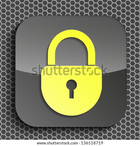 raster version of creative icon in modern style - stock photo
