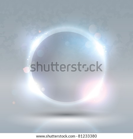 Raster Version of Glass Glossy Sphere. Abstract Background - stock photo
