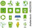 raster version of  green energy icon set - stock photo
