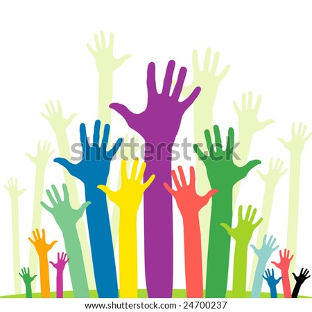 raster version of happy volunteering hands - part 1