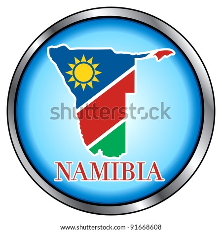 Raster version of Illustration for Namibia, Round Button. - stock photo