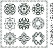 Raster version of Oriental style ornament elements. (vector available in portfolio) - stock photo