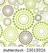 raster version of retro seamless dotted circle background - proposed color part 7 - stock photo