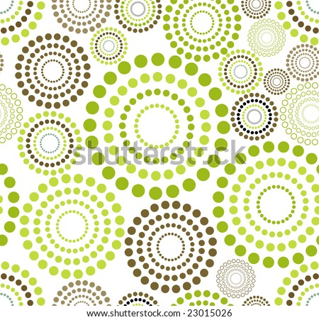 raster version of retro seamless dotted circle background - proposed color part 7