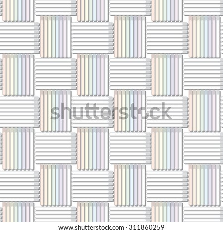 raster version of seamless fabric texture. weave colorful threads in pastel colors  - stock photo