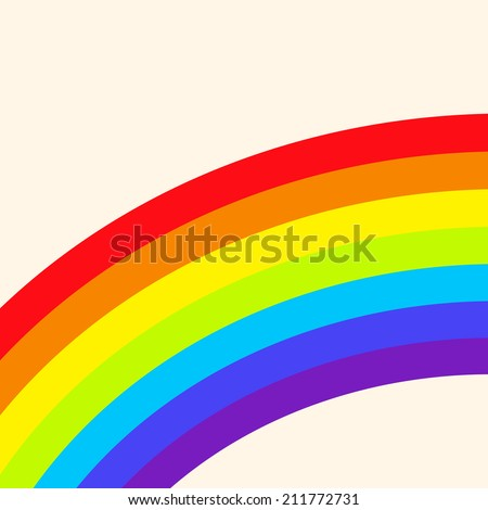 Raster version of the illustration with a rainbow. Rainbow background. - stock photo