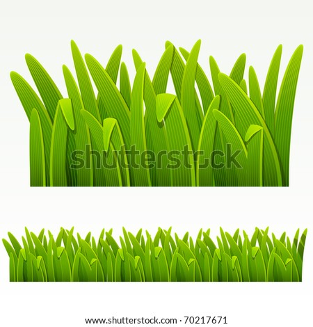 Raster version of vector grass green border.(can be repeated and scaled in any size)