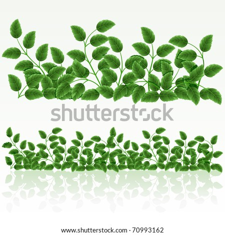 Raster version of vector grass green border.(can be repeated and scaled in any size) - stock photo