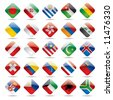 Raster version of vector set world flag icons 3 - stock photo