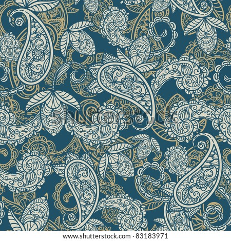 raster version seamless paisley background