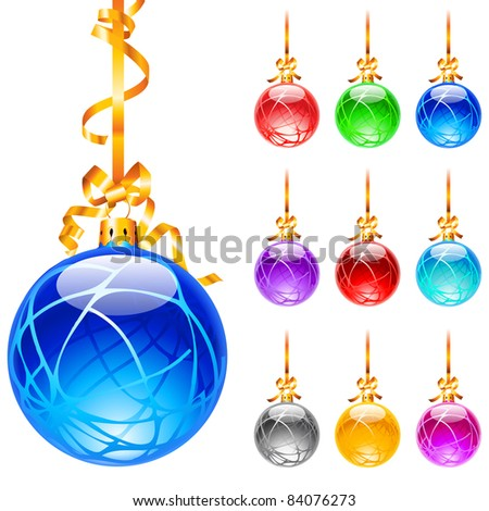 Raster version. Set decorated with colourful balloons isolated on a white background. Lines. - stock photo
