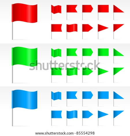 Raster version. Set of simple Banners. Illustration on white background - stock photo