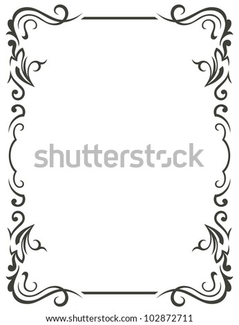 Raster version. Vintage design elements - stock photo