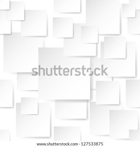 Raster version. White Stickers. Illustration on white background for design - stock photo