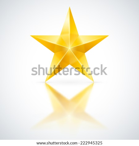 Raster version. Yellow star of five points on white background.
