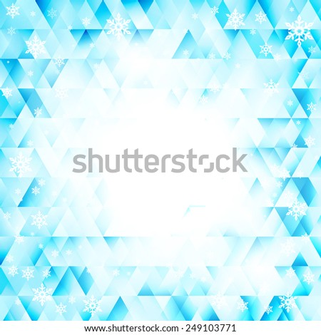 Raster winter background, abstract geometric diamond texture - stock photo