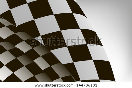 rasterized checkered sport racing flag background illustration. bitmap of vector version. see for vector version in my portfolio