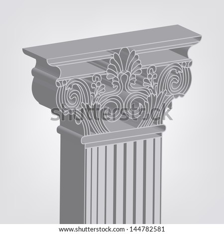 rasterized 3d-style greece column illustration. bitmap of vector version. see for vector version in my portfolio