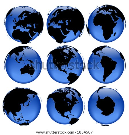 Rasterized pseudo 3d vector globe views - land is intentionally moved above the globe surface