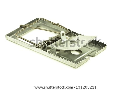 rat trap with white background