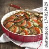 Ratatouille. Vegetable gratin. Famous French dish from Provence. - stock