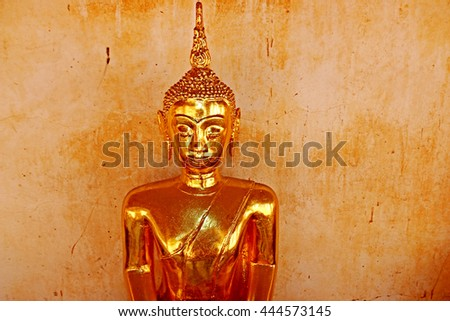 RATCHABURI-THAILAND-JUNE 25 : Buddha Statue in Thai temple, Buddha is a holy people revered in Thailand on June 25.2016 Ratchaburi Province, Thailand.