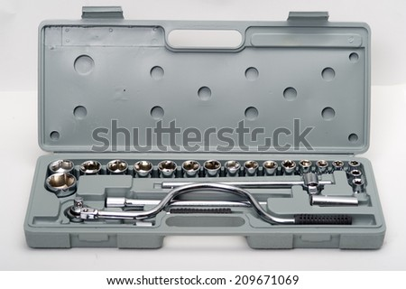Ratchet wrench isolated on white background