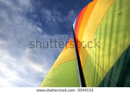 Rather be Sailing (2) - stock photo