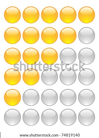 rating balls - stock photo